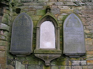 Montgreenan - The Glasgow family memorials at Kilwinning Abbey.