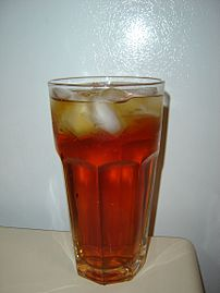 A glass of sweet tea