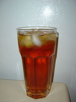 A glass of sweet tea