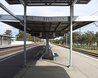 Glenfield, New South Wales - Glenfield Railway Station before upgrades.