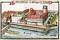 Glogau zamek XVIII wiek.jpg