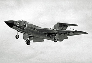 Gloster Javelin - Operational Gloster Javelin FAW.1 demonstrating at the September 1955 Farnborough Air Show
