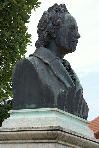 Christoph Willibald Gluck - Statue of Gluck in Weidenwang