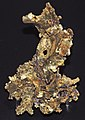 Gold from quartz-gold hydrothermal vein (California, USA) 2 (16844358998).jpg