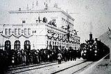The opening train in Bellinzona