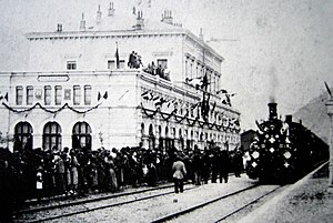 Switzerland - Inauguration in 1882 of the Gotthard Rail Tunnel connecting the southern canton of Ticino, the longest in the world at the time