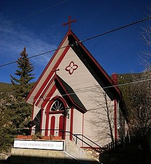 Grace Episcopal Church (Georgetown, Colorado) - Grace Episcopal Church, built 1870, now overlooks I-70 in Georgetown