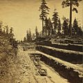 Grading the Central Pacific Railroad. The cut at Owl Gap, Placer County, by Thomas Houseworth & Co. (cropped).jpg