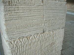 Temple of Dendur - 19th century graffiti