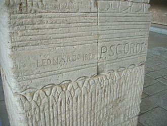 Temple of Dendur - 19th century graffiti