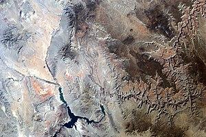 Shivwits Plateau - Image: Grand Canyon area of Arizona by Sally Ride Earth KAM