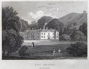 "The Grange, Broadhembury - ""Grange, Devonshire"", 1829 engraving"