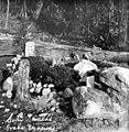 """Grave of Jefferson R (""""Soapy"""") Smith, Skagway, Alaska, circa 1910 (AL+CA 5988).jpg"""