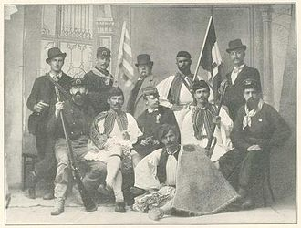 Greece–Italy relations - Greeks with Italian volunteers in the Greco-Turkish War in 1897.