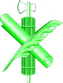 Green fasces-scroll-quill.png