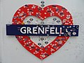 Grenfell Tower fire memorials in May 2018 01.jpg