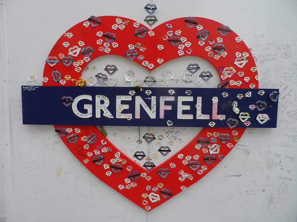 Grenfell Tower fire memorials in May 2018 01