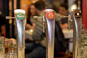 Beer tap - Three beer taps.