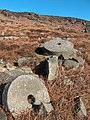Grindstones on slope beneath Stanage Edge - geograph.org.uk - 1622296.jpg