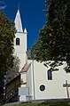 Großwarasdorf-Pfarrkirche Stiegenaufgang rechts.jpg