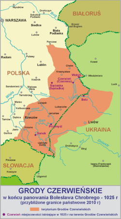 Areas of Western Ukraine, Eastern Poland