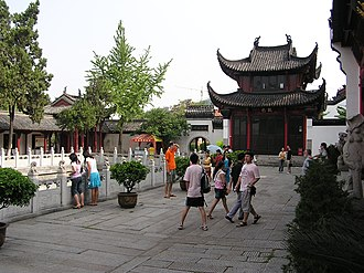 Chinese bell tower Guiyuan Temple Wuhan3.jpg