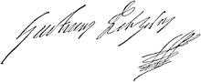 Unterschrift von Gustav II. Adolf
