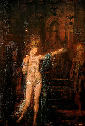 Salome (play) -  Wilde's interest in Salomé's image had been stimulated by descriptions of Gustave Moreau's paintings in Joris-Karl Huysmans's À rebours.