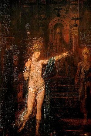 Ο Χορός της Σαλώμης (1876). Πίνακας του Γκυστάβ Μορώ. Μουσείο Γκυστάβ Μορώ, Παρίσι