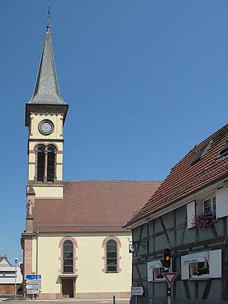 Hésingue - Image: Hésingue, l'église Saint Laurent foto 4 2013 07 21 11.37