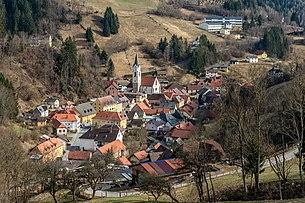 NW-Ansicht der Marktgemeinde Hüttenberg