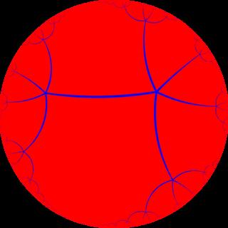 Order-5 apeirogonal tiling