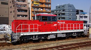 JR Freight Class HD300 - HD300-8 at Hachioji Station in March 2014