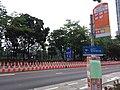 HK CWB 銅鑼灣 Causeway Bay 高士威道 Causeway Bay Road bus stop signs n traffic cones June 2019 SSG 01.jpg