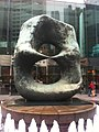 HK Central 中環 交易廣場 Exchange Square 亨利摩爾 Henry Moore sculpture Oval with Points Jan-2012.jpg
