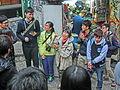 HK Central Hollywood Road Dr Rebecca LEE Lok-Sze 李樂詩 博士 speaking Mar-2014 Pottinger Street.JPG