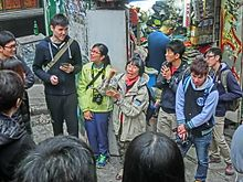 HK Central Hollywood Road Dr Rebecca LEE Lok-Sze 李樂詩 博士 speaking Mar-2014 Pottinger Street.JPG