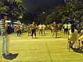 HK North Point Piers 北角碼頭 night 街坊 dancing visitors 09-June-2012.JPG
