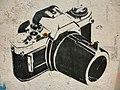 HK Sheung Wan Upper Station Street Graffiti 單鏡反光相機 Single Lens Reflex 單反 SLR Camera May-2013 black n white.JPG