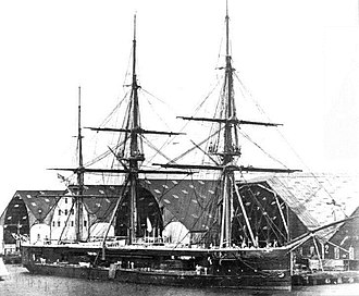 HMS Captain (1869) - HMS Captain at Chatham 1869