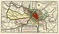 HUA-214025-Kaart van het grondgebied van de stadsvrijheid van de stad Utrecht met directe omgeving met wegen watergangen en gestileerde weergave van de bebouwing.jpg