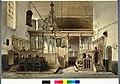 HUA-31231-Interieur van de Geertekerk te Utrecht doorkijk vanuit het koor door het koorhek in het schip tijdens een kerkdienst uit het oosten.jpg