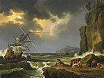 Hackert, Jacob Philipp - Küstenlandschaft mit Seesturm - 1773.jpg