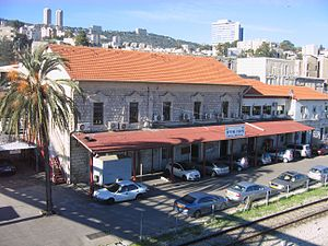 Israel Railway Museum - Part of the preserved Haifa East station building at the museum