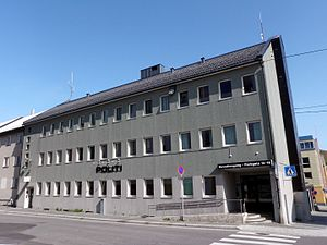 Hammerfest District Court - Hammerfest District Court is co-located with Hammerfest Police Station, the court's entrance on the left