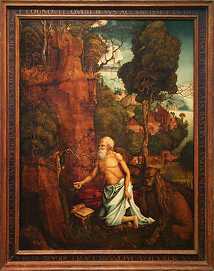 Hans Dürer - The Penitent St. Jerome in a Landscape by Hans Dürer, National Gallery in Prague