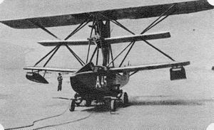 Hansa-Brandenburg CC - CC, serial number A.45, modified with a centre wing as a triplane.
