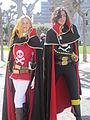 Harlock & Emeraldas cosplayers at 2010 NCCBF 2010-04-18 1.JPG
