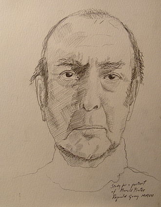 Harold Pinter - Study of Pinter by Reginald Gray, 2007. (New Statesman, 12 January 2009)