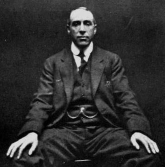 Harry Price - A photograph of Harry Price, taken by paranormal hoaxer William Hope in 1922